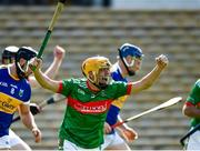 20 September 2020; Evan Sweeney of Loughmore-Castleiney celebrates after scoring his side's first goal, in the fifth minute, during the Tipperary County Senior Hurling Championship Final match between Kiladangan and Loughmore-Castleiney at Semple Stadium in Thurles, Tipperary. Photo by Ray McManus/Sportsfile