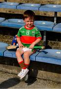 20 September 2020; Loughmore-Castleiney mascot, three year old Ollie Sweeney, son of corner-forward Evan, before the Tipperary County Senior Hurling Championship Final match between Kiladangan and Loughmore-Castleiney at Semple Stadium in Thurles, Tipperary. Photo by Ray McManus/Sportsfile