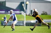 20 September 2020; Darragh Reen of Tralee Parnells in action against Brendan McMahon of Dr Crokes during the Kerry County Intermediate Hurling Championship Final match between Dr Crokes and Tralee Parnell's at Austin Stack Park in Tralee, Kerry. Photo by David Fitzgerald/Sportsfile