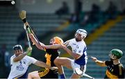 20 September 2020; Paul Daly, left, and Luke Chester of Tralee Parnells in action against Patrick Crehan of Dr Crokes during the Kerry County Intermediate Hurling Championship Final match between Dr Crokes and Tralee Parnell's at Austin Stack Park in Tralee, Kerry. Photo by David Fitzgerald/Sportsfile