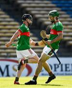 20 September 2020; Tomás McGrath, left, celebrates after scoring his side's second goal, in the 20th minute, with his Loughmore-Castleiney team-mate Ciaran McGrath during the Tipperary County Senior Hurling Championship Final match between Kiladangan and Loughmore-Castleiney at Semple Stadium in Thurles, Tipperary. Photo by Ray McManus/Sportsfile