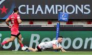 20 September 2020; John Cooney of Ulster scores a try during the Heineken Champions Cup Quarter-Final match between Toulouse and Ulster at Stade Ernest Wallon in Toulouse, France. Photo by Manuel Blondeau/Sportsfile