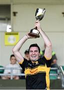 20 September 2020; Mike Milner of Dr Crokes lifts the cup following the Kerry County Intermediate Hurling Championship Final match between Dr Crokes and Tralee Parnell's at Austin Stack Park in Tralee, Kerry. Photo by David Fitzgerald/Sportsfile