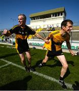 20 September 2020; Seanie Burchill, left, and Shane Kavanagh of Dr Crokes celebrate at the final whistle following the Kerry County Intermediate Hurling Championship Final match between Dr Crokes and Tralee Parnell's at Austin Stack Park in Tralee, Kerry. Photo by David Fitzgerald/Sportsfile
