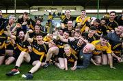 20 September 2020; Mike Milner of Dr Crokes, centre, and team-mates celebrate with the cup following the Kerry County Intermediate Hurling Championship Final match between Dr Crokes and Tralee Parnell's at Austin Stack Park in Tralee, Kerry. Photo by David Fitzgerald/Sportsfile