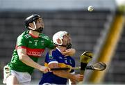 20 September 2020; Paul Flynn of Kiladangan in action against Lorcan Egan of Loughmore-Castleiney during the Tipperary County Senior Hurling Championship Final match between Kiladangan and Loughmore-Castleiney at Semple Stadium in Thurles, Tipperary. Photo by Ray McManus/Sportsfile