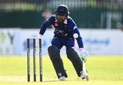 20 September 2020; Simi Singh of YMCAreturns to his crease as a run out is attempted during the All-Ireland T20 European Cricket League Play-Off match between CIYMS and YMCA at CIYMS Cricket Club in Belfast. Photo by Sam Barnes/Sportsfile