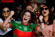 20 September 2020; Loughmore-Castleiney supporters cheer on their team during the Tipperary County Senior Hurling Championship Final match between Kiladangan and Loughmore-Castleiney at Semple Stadium in Thurles, Tipperary. Photo by Ray McManus/Sportsfile