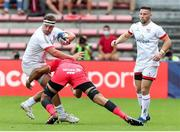 20 September 2020; Rob Herring of Ulster is tackled by Rory Arnold of Toulouse during the Heineken Champions Cup Quarter-Final match between Toulouse and Ulster at Stade Ernest Wallon in Toulouse, France. Photo by Manuel Blondeau/Sportsfile