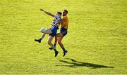 20 September 2020; Matthew Ruane of Breaffy in action against Shane McHale of Knockmore during the Mayo County Senior Football Championship Final match between Breaffy and Knockmore at Elvery's MacHale Park in Castlebar, Mayo.  Photo by Eóin Noonan/Sportsfile