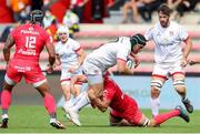 20 September 2020; Eric O'Sullivan of Ulster is tackled by Francois Cros of Toulouse during the Heineken Champions Cup Quarter-Final match between Toulouse and Ulster at Stade Ernest Wallon in Toulouse, France. Photo by Manuel Blondeau/Sportsfile