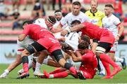 20 September 2020; Iain Henderson of Ulster is tackled by Romain Ntamack of Toulouse during the Heineken Champions Cup Quarter-Final match between Toulouse and Ulster at Stade Ernest Wallon in Toulouse, France. Photo by Manuel Blondeau/Sportsfile
