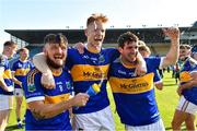 20 September 2020; Kiladangan players, from left, Willie Connors, David Sweeney and Tadhg Gallagher celebrate following the Tipperary County Senior Hurling Championship Final match between Kiladangan and Loughmore-Castleiney at Semple Stadium in Thurles, Tipperary. Photo by Ray McManus/Sportsfile