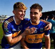 20 September 2020; Tom O'Mara, left, and goalscorer Bryan McLoughney of Kiladangan celebrate after the Tipperary County Senior Hurling Championship Final match between Kiladangan and Loughmore-Castleiney at Semple Stadium in Thurles, Tipperary. Photo by Ray McManus/Sportsfile