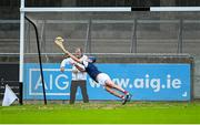 20 September 2020; Cuala goalkeeper Seán Brennan saves a penalty taken by Paul Ryan of Ballyboden St Enda's, only for Conal Keaney of Ballyboden St Enda's to score a goal from the rebound, during the Dublin County Senior Hurling Championship Final match between Ballyboden St Enda's and Cuala at Parnell Park in Dublin. Photo by Piaras Ó Mídheach/Sportsfile