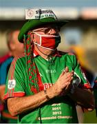 20 September 2020; St Brigids supporter Jimmy Halpin shows his support following the Roscommon County Senior Football Championship Final match between Padraig Pearses and St Brigids at Dr Hyde Park in Roscommon.  Photo by Harry Murphy/Sportsfile