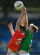 20 September 2020; Charles Nevin of Padraig Pearses in action against Paul McGrath of St Brigids during the Roscommon County Senior Football Championship Final match between Padraig Pearses and St Brigids at Dr Hyde Park in Roscommon.  Photo by Harry Murphy/Sportsfile