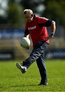 20 September 2020; Padraig Pearses manager Pat Flanagan prior to the Roscommon County Senior Football Championship Final match between Padraig Pearses and St Brigids at Dr Hyde Park in Roscommon.  Photo by Harry Murphy/Sportsfile