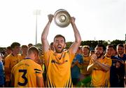 20 September 2020; Kevin McLoughlin of Knockmore lifts the cup following the Mayo County Senior Football Championship Final match between Breaffy and Knockmore at Elvery's MacHale Park in Castlebar, Mayo.  Photo by Eóin Noonan/Sportsfile