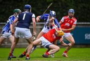 20 September 2020; Oisín Gough of Cuala is tackled by Conal Keaney of Ballyboden St Enda's during the Dublin County Senior Hurling Championship Final match between Ballyboden St Enda's and Cuala at Parnell Park in Dublin. Photo by Piaras Ó Mídheach/Sportsfile