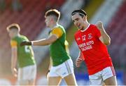 20 September 2020; Lee Brennan of Trillick St. Macartan's celebrates after scoring his side's first goal during the Tyrone County Senior Football Championship Final match between Trillick St. Macartan's and Dungannon Thomas Clarkes at Healy Park in Omagh, Tyrone. Photo by Ramsey Cardy/Sportsfile