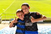20 September 2020; Kiladangan supporters Cathal, age 6, and his brother Oisín O'Mahony, age 9, before the Tipperary County Senior Hurling Championship Final match between Kiladangan and Loughmore-Castleiney at Semple Stadium in Thurles, Tipperary. Photo by Ray McManus/Sportsfile