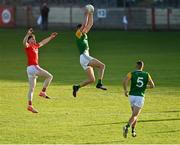 20 September 2020; Padraig McNulty of Dungannon Thomas Clarkes in action against Rory Brennan of Trillick St. Macartan's during the Tyrone County Senior Football Championship Final match between Trillick St. Macartan's and Dungannon Thomas Clarkes at Healy Park in Omagh, Tyrone. Photo by Ramsey Cardy/Sportsfile