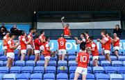 20 September 2020; Cuala captain Darragh O'Connell lifts The New Ireland Assurance Company Perpetual Challenge Cup after the Dublin County Senior Hurling Championship Final match between Ballyboden St Enda's and Cuala at Parnell Park in Dublin. Photo by Piaras Ó Mídheach/Sportsfile