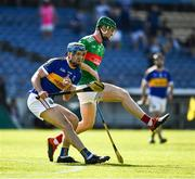 20 September 2020; Joe Gallagher of Kiladangan in action against John Meagher of Loughmore-Castleiney during the Tipperary County Senior Hurling Championship Final match between Kiladangan and Loughmore-Castleiney at Semple Stadium in Thurles, Tipperary. Photo by Ray McManus/Sportsfile