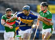 20 September 2020; Joe Gallagher of Kiladangan in action against Willie Eviston, left, and Lorcan Egan of Loughmore-Castleiney during the Tipperary County Senior Hurling Championship Final match between Kiladangan and Loughmore-Castleiney at Semple Stadium in Thurles, Tipperary. Photo by Ray McManus/Sportsfile