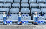 20 September 2020; A general view of individual water bottles for the Ballyboden St Enda's players before the Dublin County Senior Hurling Championship Final match between Ballyboden St Enda's and Cuala at Parnell Park in Dublin. Photo by Piaras Ó Mídheach/Sportsfile