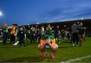 20 September 2020; Kiefer Morgan of Dungannon Thomas Clarkes celebrates following their victory in the Tyrone County Senior Football Championship Final match between Trillick St. Macartan's and Dungannon Thomas Clarkes at Healy Park in Omagh, Tyrone. Photo by Ramsey Cardy/Sportsfile