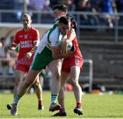 20 September 2020; Michael English of Baltinglass in action against Kevin Mulhall of Tinahely during the Wicklow County Senior Football Championship Final match between Tinahely and Baltinglass at Joule Park in Aughrim, Wicklow. Photo by Matt Browne/Sportsfile