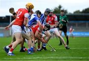20 September 2020; Mark Schutte of Cuala tries to gather possession during the Dublin County Senior Hurling Championship Final match between Ballyboden St Enda's and Cuala at Parnell Park in Dublin. Photo by Piaras Ó Mídheach/Sportsfile
