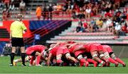 20 September 2020; Alexi Bales of Toulouse feeds into a scrum during the Heineken Champions Cup Quarter-Final match between Toulouse and Ulster at Stade Ernest Wallon in Toulouse, France. Photo by Manuel Blondeau/Sportsfile