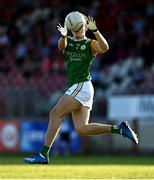 20 September 2020; Conall Devlin of Dungannon Thomas Clarkes during the Tyrone County Senior Football Championship Final match between Trillick St. Macartan's and Dungannon Thomas Clarkes at Healy Park in Omagh, Tyrone. Photo by Ramsey Cardy/Sportsfile