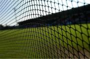 20 September 2020; A view of the goal nets ahead of the Tyrone County Senior Football Championship Final match between Trillick St. Macartan's and Dungannon Thomas Clarkes at Healy Park in Omagh, Tyrone. Photo by Ramsey Cardy/Sportsfile