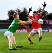 20 September 2020; Matthew Walsh of Dungannon Thomas Clarkes in action against Ryan Gray of Trillick St. Macartan's during the Tyrone County Senior Football Championship Final match between Trillick St. Macartan's and Dungannon Thomas Clarkes at Healy Park in Omagh, Tyrone. Photo by Ramsey Cardy/Sportsfile