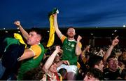 20 September 2020; Conall Devlin, left, and Connor McKee of Dungannon Thomas Clarkes celebrate following their victory in the Tyrone County Senior Football Championship Final match between Trillick St. Macartan's and Dungannon Thomas Clarkes at Healy Park in Omagh, Tyrone. Photo by Ramsey Cardy/Sportsfile