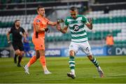 21 September 2020; Graham Burke of Shamrock Rovers reacts to a missed opportunity on goal during the SSE Airtricity League Premier Division match between Shamrock Rovers and Waterford at Tallaght Stadium in Dublin. Photo by Stephen McCarthy/Sportsfile