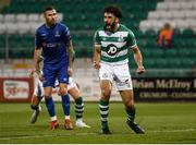 21 September 2020; Roberto Lopes of Shamrock Rovers celebrates after scoring his side's second goal during the SSE Airtricity League Premier Division match between Shamrock Rovers and Waterford at Tallaght Stadium in Dublin. Photo by Stephen McCarthy/Sportsfile