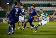 21 September 2020; Graham Burke of Shamrock Rovers shoots to score his side's fifth goal during the SSE Airtricity League Premier Division match between Shamrock Rovers and Waterford at Tallaght Stadium in Dublin. Photo by Stephen McCarthy/Sportsfile
