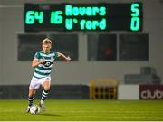 21 September 2020; Liam Scales of Shamrock Rovers during the SSE Airtricity League Premier Division match between Shamrock Rovers and Waterford at Tallaght Stadium in Dublin. Photo by Stephen McCarthy/Sportsfile