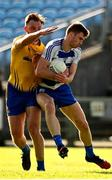 20 September 2020; Conor O'Shea of Breaffy in action against Shane McHale of Knockmore during the Mayo County Senior Football Championship Final match between Breaffy and Knockmore at Elvery's MacHale Park in Castlebar, Mayo.  Photo by Eóin Noonan/Sportsfile