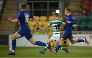 21 September 2020; Dean Williams of Shamrock Rovers shoots to score his side's sixth goal during the SSE Airtricity League Premier Division match between Shamrock Rovers and Waterford at Tallaght Stadium in Dublin. Photo by Stephen McCarthy/Sportsfile