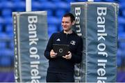 22 September 2020; Academy performance analyst Eoin Smyth during a Leinster Rugby Academy training session at Energia Park in Dublin. Photo by Ramsey Cardy/Sportsfile