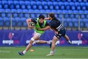 22 September 2020; Alex Soroka, left, and Liam Turner during a Leinster Rugby Academy training session at Energia Park in Dublin. Photo by Ramsey Cardy/Sportsfile