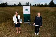23 September 2020; CEO of the Federation of Irish Sport, Mary O'Connor, left, and Irish international hockey player Sarah Hawkshaw at the release of the Federation of Irish Sport's pre-Budget submission 2021 at Sport Ireland National Sports Campus in Blanchardstown, Dublin. Photo by Stephen McCarthy/Sportsfile