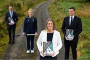 23 September 2020; CEO of the Federation of Irish Sport, Mary O'Connor with, from left, Matt McKerrow, CEO, Cycling Ireland, Irish international hockey player Sarah Hawkshaw, and Peter Sherrard, CEO, Olympic Federation of Ireland, at the release of the Federation of Irish Sport's pre-Budget submission 2021 at Sport Ireland National Sports Campus in Blanchardstown, Dublin. Photo by Stephen McCarthy/Sportsfile