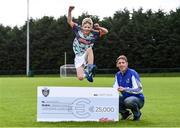 23 September 2020; Skryne GFC has been boosted with the news that it has claimed first prize in the 2020 Kellogg's GAA Cúl Camps on-pack promotion, claiming a huge €25,000 for the club. Pictured is former Meath football and Skryne GFC coach Trevor Giles and his 10 year old son Oisin. Photo by Matt Browne/Sportsfile